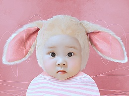 伪装成小动物的娃娃们