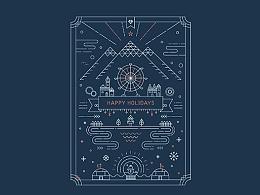 单线装饰风格海报(每日一画AI)(临摹)