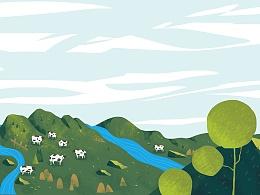 Y-Milk未来牛奶平台包装设计-天然牧场,有机会更好