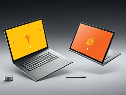 微软Surface Book 2 随性专属包图案设计方案