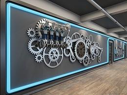 机械齿轮墙