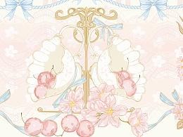 砂糖魔法柄图印花部分