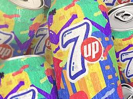 7喜罐身图案设计