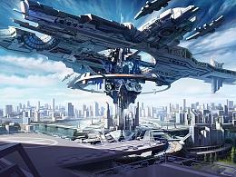 未来城市-空中城堡