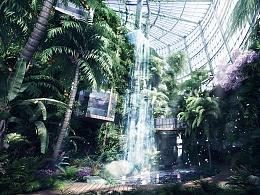 昆明热带雨林复原项目-(建筑表现效果图)