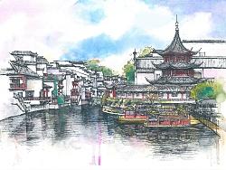 ♪ lǔ lì fà fà 第一次画纯水彩