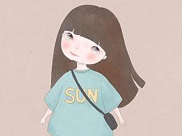 九月插画-女孩