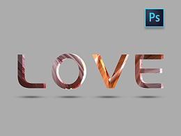 PS做3D字体练习
