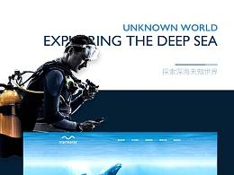 「MEOW」-水族馆海洋馆企业站网页设计-好想去看海~