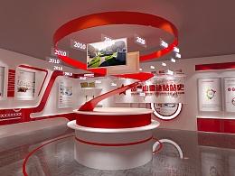 一个小展厅的效果图设计
