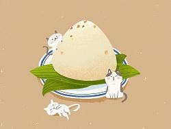 端午的小插图~猜猜谁吃了粽子~~
