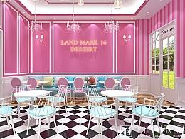 福建三明—欧式风格甜品店装修设计