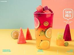 悸动·奶茶烧仙草  饮品 饮料 奶盖 摄影 图片 海报