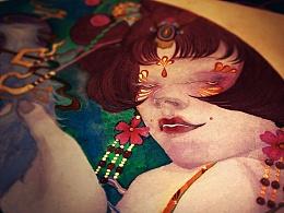 《三支川.花红-玲珑骰》日本颜彩-人川集