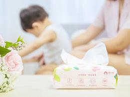 绵小桃母婴包装设计