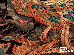 原创系列插画-《荆棘鸟》