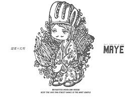 原创黑白插画---《诸葛孔明》---MRYE