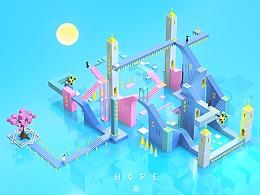 纪念碑谷 x HOPE