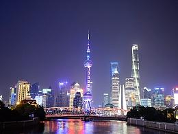 东方明珠夜景延时摄影
