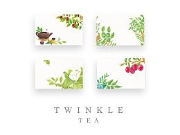 Twinkle tea 茶饮料插画包装