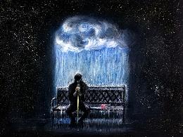 OY色粉画·孤独患者2