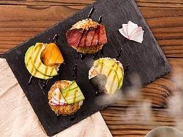 充满了温暖味道的日式烤饭团