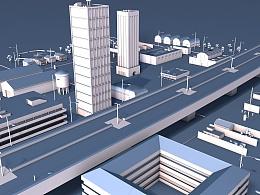 C4D 城市建筑群建模练习