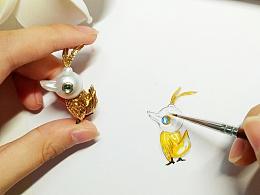 异形珍珠可以这样设计?这到底是鸟还是鸭子?