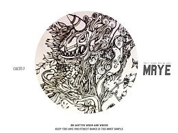 原创黑白插画---《绽放》---MRYE