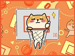 微信表情-大头狗-篮球狗子