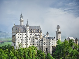 迪斯尼城堡的原型-新天鹅堡