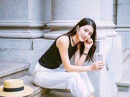 魅蓝Note 6搭配EP52蓝牙耳机街拍