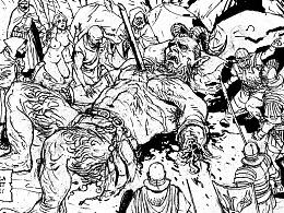几页法国漫画铅笔草稿