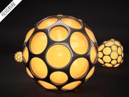 C4D视频教程--异形球体建模及材质质感调节