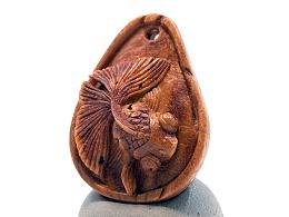 《一瓢金》小籽桃核雕刻