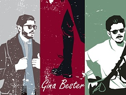 """Gina Bester""系列矢量插画——男装Street Snap2017"