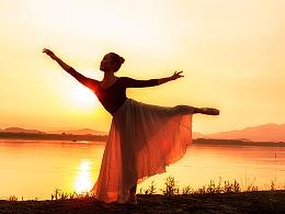 夕阳下的舞者