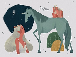 《近期插画》最近画的一些人和动物们
