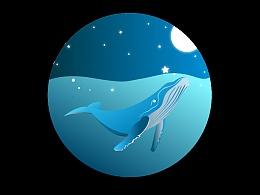 小鲸鱼插画