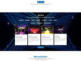 舞台灯光英文官网-网页设计-视觉稿设计