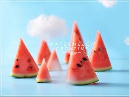 《西瓜变形记》哈尔滨雷鸣摄影 美女美食 产品商业摄影