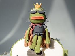 翻糖蛋糕—sad frog悲伤的青蛙