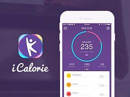 UI设计-Health app icalorie - 卡卡健康