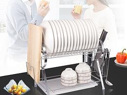 厨卫碗碟架详情页