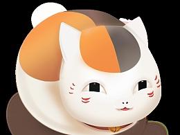 招财猫作画过程GIf