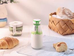 友芝友牛奶场景图 饮品拍摄 静物摄影 早餐