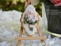 婚礼翻糖甜品台