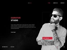 设计广告网站  黑色英文网站