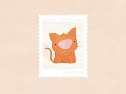 日常小插画-小动物插画-海报-品牌vi