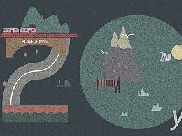 纪念哈利波特20周年插画